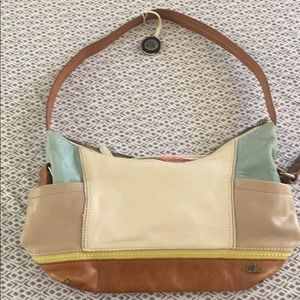 The sac leather multi colored purse